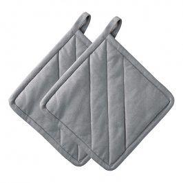 ZONE Sada 2× kuchyňská chňapka čtvercová grey