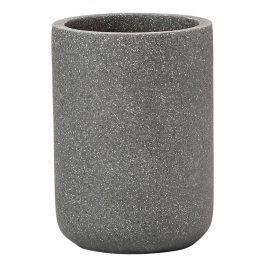 ZONE Kelímek na zubní kartáčky concrete grey SOLID