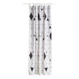 ZONE Sprchový závěs 180 × 200 cm black HARLEQUIN