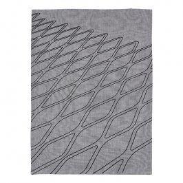 ZONE Kuchyňská utěrka fence grey/black DRY ART