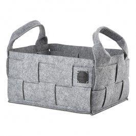 ZONE Úložný košík velký grey HIDE