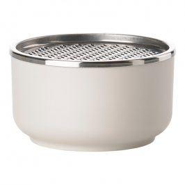 ZONE Dóza s jemným struhadlem 0,5 l warm grey PEILI