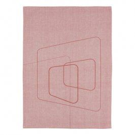 ZONE Kuchyňská utěrka squares siena red DRY ART
