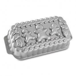 NordicWare Forma na chlebíček Gingerbread Family Loaf Bundt® stříbrná, Nordic Ware