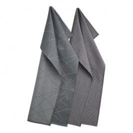 GEORG JENSEN DAMASK Set utěrek 80 × 50 cm FINNSDOTTIR a EGYPT dark grey