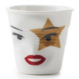 REVOL Kelímek na espresso 8 cl Madame Rock Star Froissés