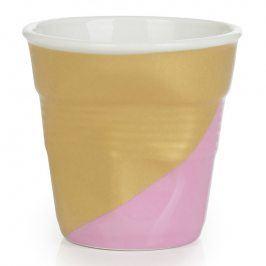 REVOL Kelímek na espresso 8 cl Twist Pink Down Froissés