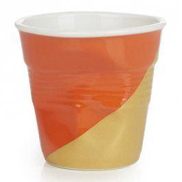 REVOL Kelímek na espresso 8 cl Twist Orange Up Froissés