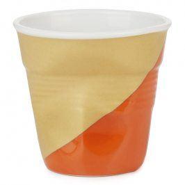 REVOL Kelímek na espresso 8 cl Twist Orange Down Froissés