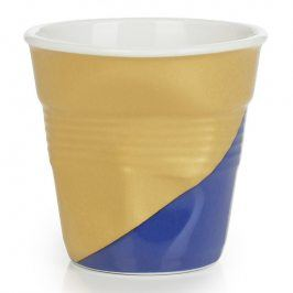 REVOL Kelímek na espresso 8 cl Twist Blue Down Froissés