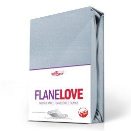 Flanelové prostěradlo napínací sv. modré 90x200 cm jednolůžko - standard Flanel