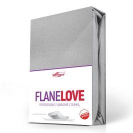 Flanelové prostěradlo napínací sv. šedé 90x200 cm jednolůžko - standard Flanel