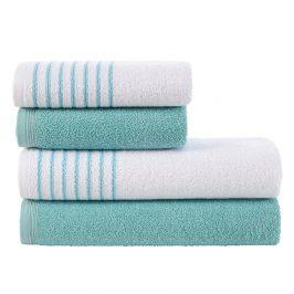 Sada ručníků a osušek Eleganza tyrkysová Set tyrkysová
