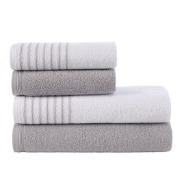 Sada ručníků a osušek Eleganza šedá Set šedá