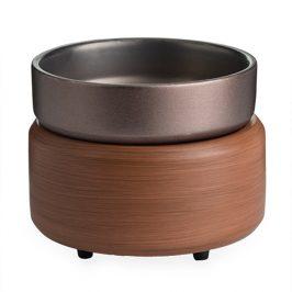 Elektrická aromalampa a ohřívač svíček Pewter Keramika hnědá