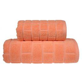 Ručník Brick broskvový 50x90 cm Ručník
