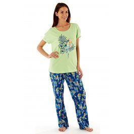 Dámské bavlněné pyžamo Parrot  zelenomodrá