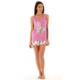 Dámské bavlněné pyžamo Parrot Pink krátké  růžová