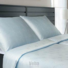 Povlečení Tencel Snail modré 140x200 jednolůžko - standard bavlna