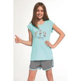 Dívčí pyžamo Zebra  tyrkysová