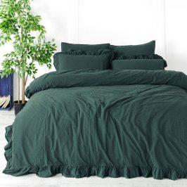 Povlečení Stonewash Exclusive Zelené 140x200 jednolůžko - standard bavlna