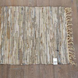 Kobereček Home Design z kůže béžová rohožka béžová