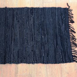 Kobereček Home Design z kůže černá rohožka, 90x60 cm modrá, černá