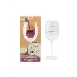 Sklenička na víno Dont ask Objem: 400ml sklenička