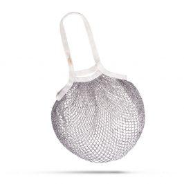 Šedo-bílá taška přes rameno Česká síťovka Bambusové vlákno síťová taška
