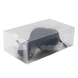 Transpatrentní úložný box 18 x 34 cm bílá