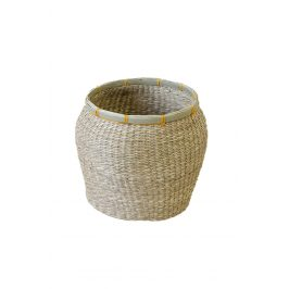 Úložný košík z mořské trávy béžový 22x27x27 cm béžová