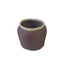 Úložný košík z mořské trávy hnědý 22x27x27 cm hnědá