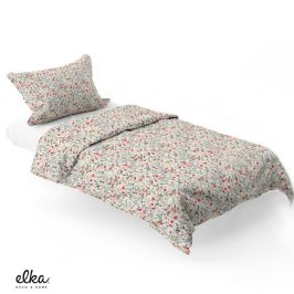 Povlečení ELKA LOUNGE Flowers 140x200 jednolůžko - standard Bavlněný satén