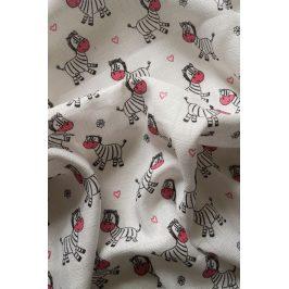 Dětská plena Zebra růžová 70x70 cm růžová