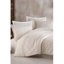 Luxusní povlečení Estina bílé 140x200 jednolůžko - standard bavlna