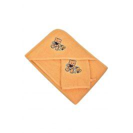 Set pro miminka oranžový 70x70 cm, Set froté