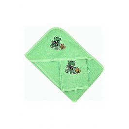 Set pro miminka zelený 70x70 cm, Set froté
