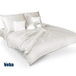 Povlečení Tencel větvičky bílé 140x220 jednolůžko - prodloužené bavlna