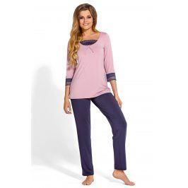Elegantní pyžamo Medine  růžovofialová