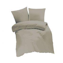 Povlečení UNI béžovošedé 140x200 jednolůžko - standard bavlna
