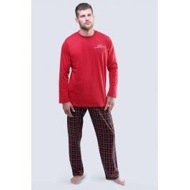 Pánské pyžamo Blacksword dlouhé  červená