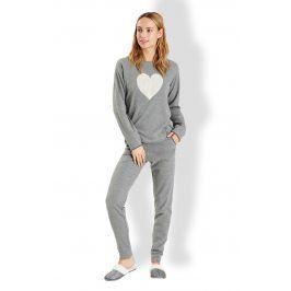 Dámské italské pyžamo Love  šedá