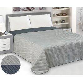 Přehoz Velvet šedý 200x220 cm polyester