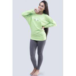 Dámské pyžamo s netopýřími rukávy Lady  zelená
