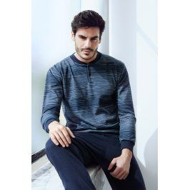 Pánské italské pyžamo Martin  modrá