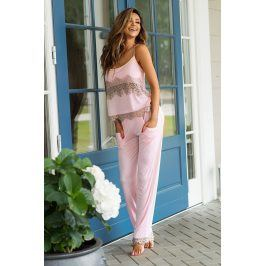 Dámské elegantní  pyžamo Adell  růžová