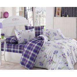 Povlečení Lavente fialové 140x200 jednolůžko - standard bavlna