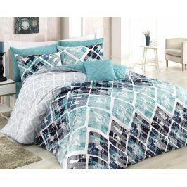Povlečení Riviera modro-zelené 140x200 jednolůžko - standard bavlna