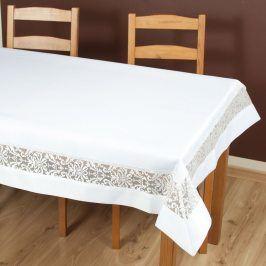 Ubrus Colette bílý 85x85 cm polyester