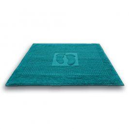 Koupelnová předložka Stopa tyrkysová 50x70 cm bavlna